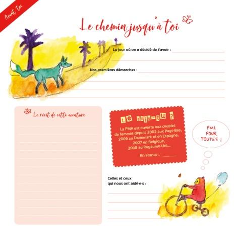 Livre de naissance famille homoparentale-Le chemin jusqu'à toi