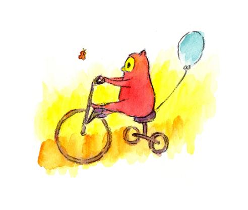 Livre de naissance famille homoparentale•carte postale chouette vélo